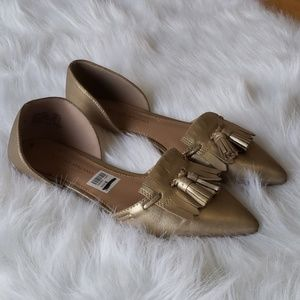 Christian Siriano   Gold Flats womans size 8